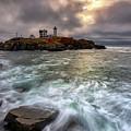 Clearing Storm At Cape Neddick by Rick Berk