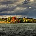 Clearing Storm Chippewa Lake Panorama  by Robert Gardner