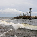Clearing Storm Over Lake Superior by Sandra Updyke