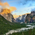 Clearing Storm - View Of Yosemite National Park From Tunnel View. by Jamie Pham