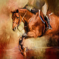Clearing The Jump Equestrian Art by Jai Johnson