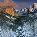 Clearing Winter Storm El Capitan Yosemite National Park by Dave Welling