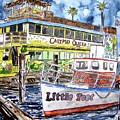 Clearwater Florida Boat Painting by Derek Mccrea