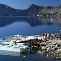 Cleetwood Cove Tour Boat Visitors, Crater Lake National Park, Oregon by Robert Mutch