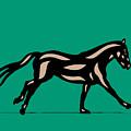 Clementine - Pop Art Horse - Black, Hazelnut, Emerald by Manuel Sueess