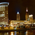 Cleveland At Night by Neil Doren