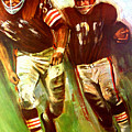 Cleveland Browns 1965 Cb Helmet Poster by John Farr