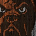 Cleveland Browns Wood Fence by Joe Hamilton