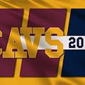 Cleveland Cavaliers Flag2 by Joe Hamilton