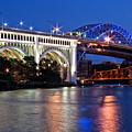 Cleveland Colored Bridges by Dale Kincaid
