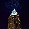 Cleveland Key Building With Electricity by Frozen in Time Fine Art Photography