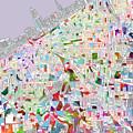 Cleveland Map 2 by Bekim Art
