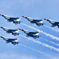 Cleveland National Air Show - Air Force Thunderbirds - 1 by Mark Madere