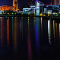 Cleveland Nightly Reflections by Stewart Helberg