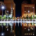 Cleveland Public Square Fountains by Brad Hartig - BTH Photography