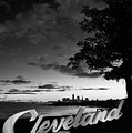 Cleveland Sign October Sky by Clint Buhler