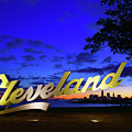 Cleveland Sign Sunrise by Clint Buhler