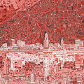 Cleveland Skyline Abstract 10 by Bekim Art
