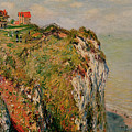 Cliff at Dieppe by Claude Monet