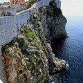 Cliff Top Walls Of Dubrovnik by Clyn Robinson