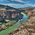 Cliff View Of Big Bend Texas National Park And Rio Grande Text Big Bend Texas by Elaine Plesser