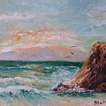 Cliffs And Waves by Barbara Harper