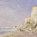 Cliffs Near Dieppe by Adolphe-Felix Cals