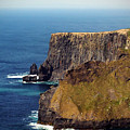 Cliffs Of Moher Ireland View Of Aill Na Searrach by Teresa Mucha