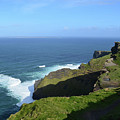 Cliff's Of Moher With White Water At The Base In Ireland by DejaVu Designs