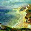 Cliffs On The Coast Near Pourville 1879 by Renoir PierreAuguste