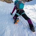 Climbing The North Coulior On Mcgown Peak by Elijah Weber
