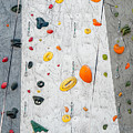 Climbing Wall Showing A Wide Variety Of Handholds  by Bryan Mullennix
