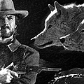 Clint Eastwood With Wolves by Ericamaxine Price