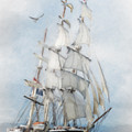 Clipper Ship In Sail by Chris Armytage