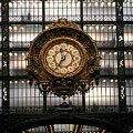 Clock Musee D'orsay by Dan Albright