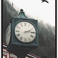 Clock Raven by Perri Kelly