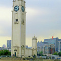Clock Tower Montreal 1 by Randall Weidner