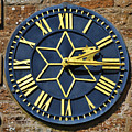 Clock With Gold Hands. by Stan Pritchard