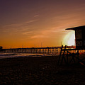 Close Of The Day At Newport Beach by Tommy Anderson