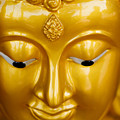 Close-up Of A Golden Buddha by Ray Laskowitz - Printscapes