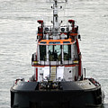 Close Up Of A Tugboat In Venice Harbor by Richard Rosenshein