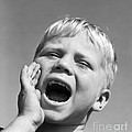 Close-up Of Boy Shouting, C.1950s by D. Corson/ClassicStock