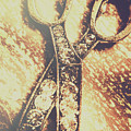 Close Up Of Jewellery Scissors Of Bronze by Jorgo Photography - Wall Art Gallery