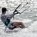 Close-up Of Male Kite Surfer In Cap by Ndp