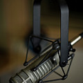 Close-up Of Recording Studio Microphone by Christopher Kontoes
