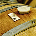 Close Up Of Red Wine Barrel by Teri Virbickis