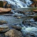 Close Up Of Reedy Falls In South Carolina by Carol Montoya