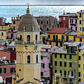 Close Up Of Vernazza Buildings, Cinque Terre, Italy by Global Light Photography - Nicole Leffer