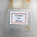 Closed For Winter by Tom Gowanlock