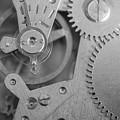 Closeup Macro Of Clock Mechanism by John Williams